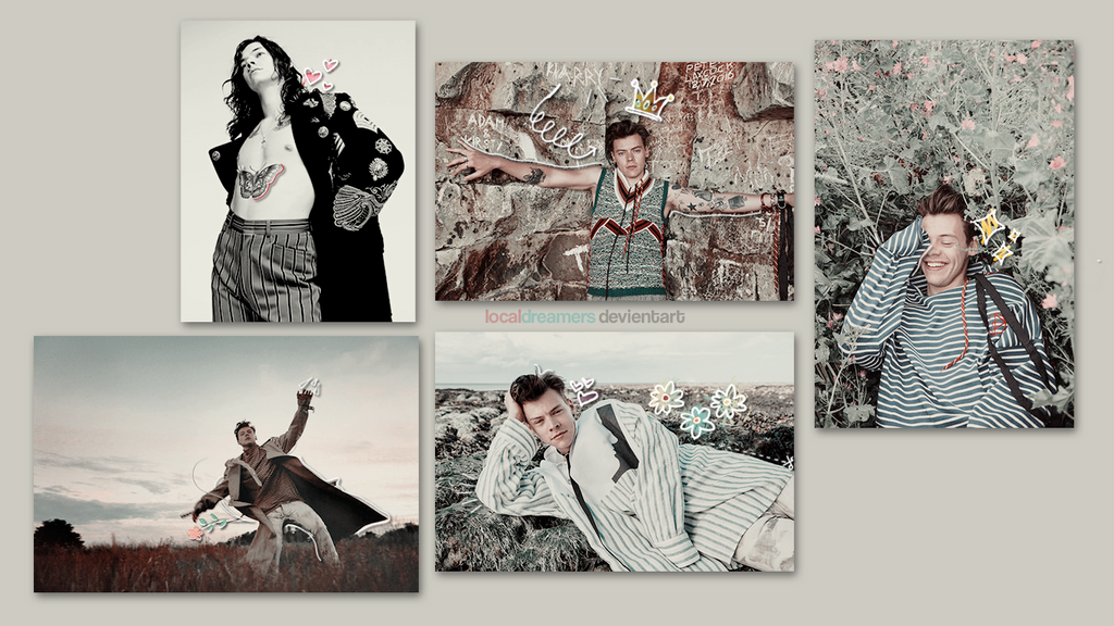 Harry Styles Collage Desktop Wallpaper 2017 Pics Download