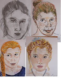 Speeddrawing Self-portrait sketchdump