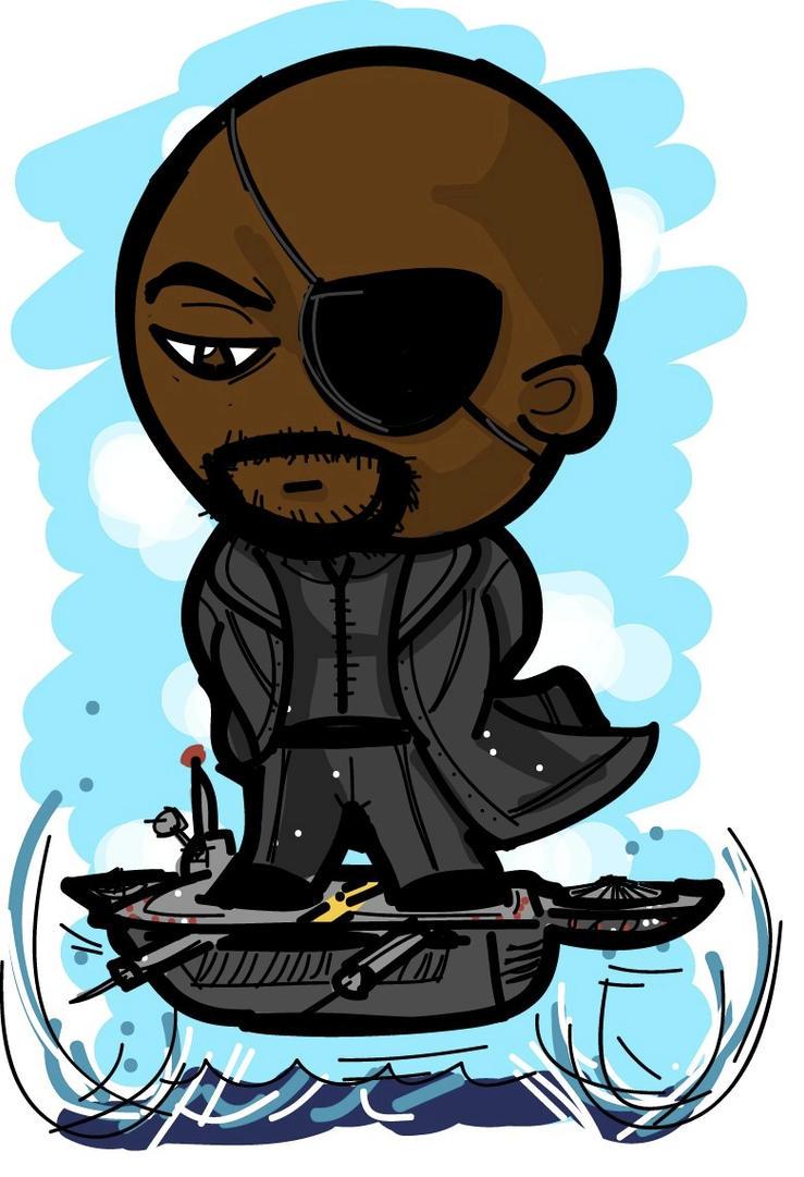 Chibi Nick Fury by val...