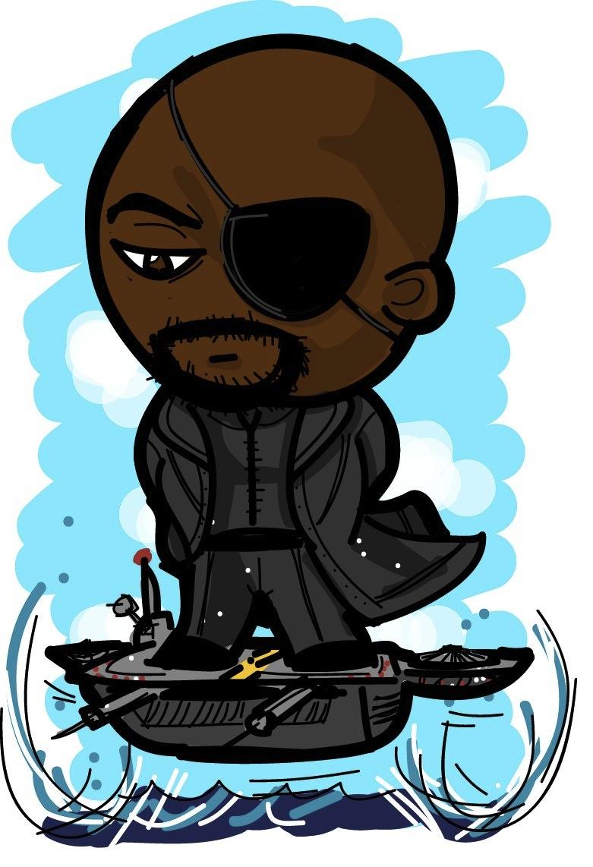 Chibi Nick Fury by valdezign on DeviantArt