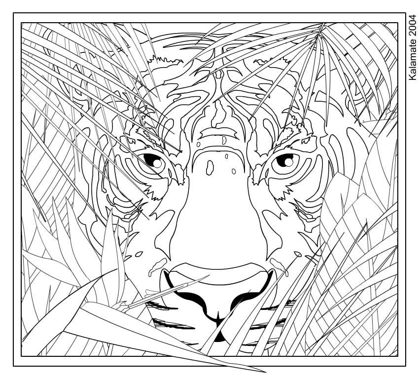 Complex Colouring Pages : Complex color by numbers colouring pages
