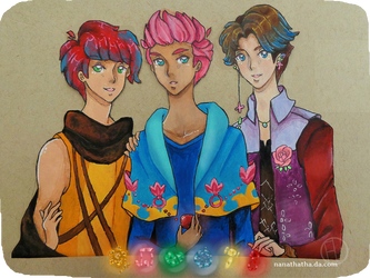 Cameo, Cerise, and Cobalt by NanaThatha