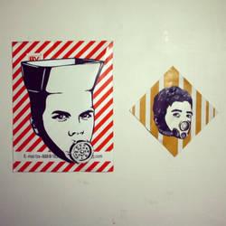 mutants on cardboards by illstencils