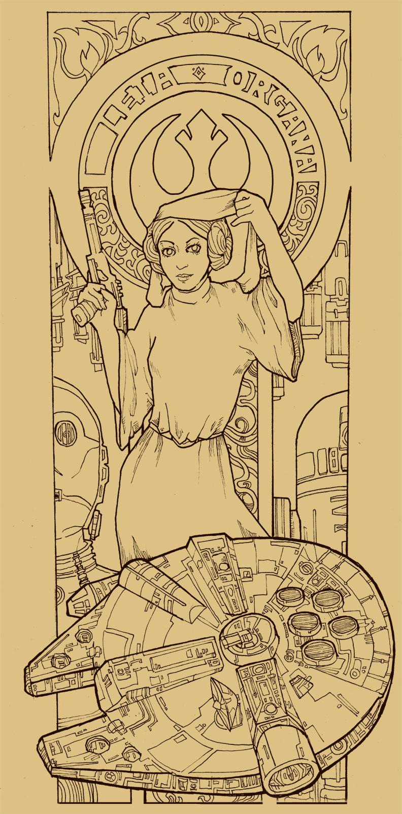 Princess Leia by LeeeHeeey
