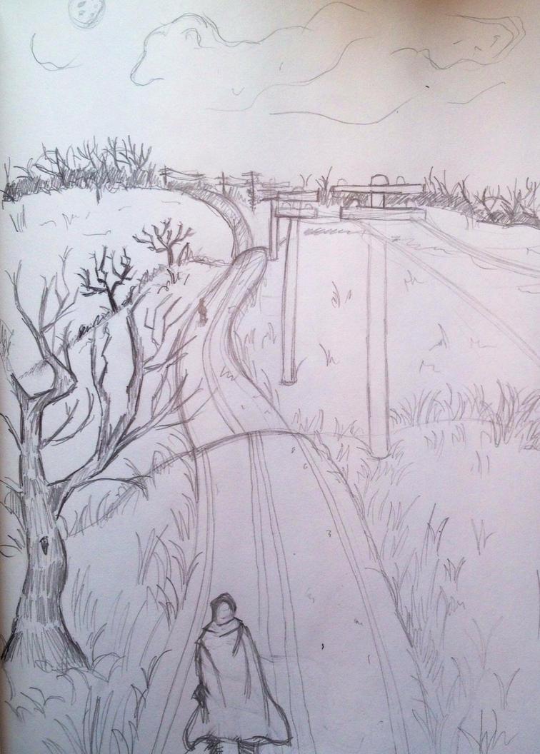 Rough Sketch 2: Road Wanderer by JohnCLJansen