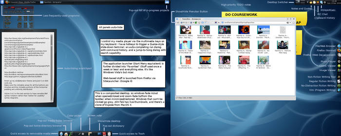 My KDE 4.2 desktop - explained