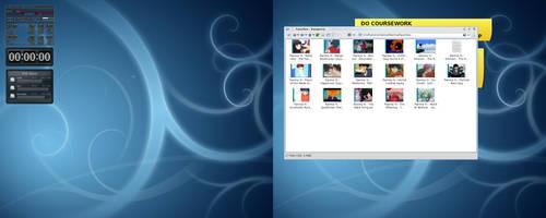 My KDE 4.2 desktop - clean by ssokolow