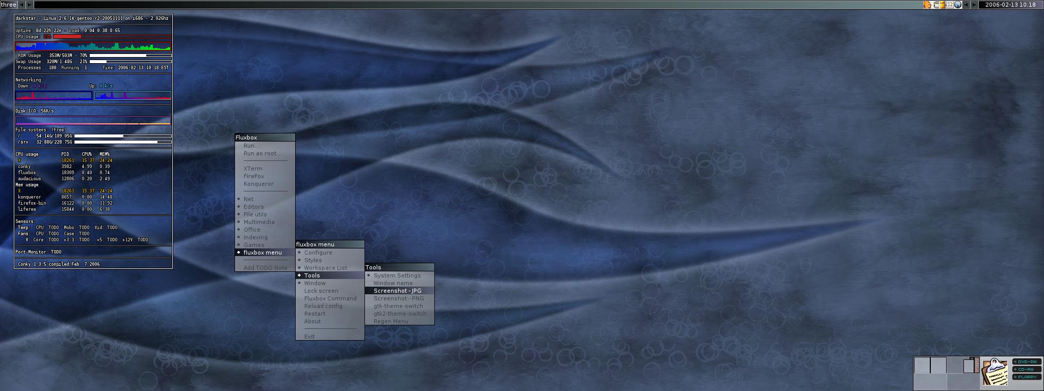 My old Fluxbox desktop