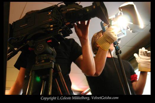 Behind the camera..