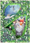 Ghiblischer Weihnachtsgruss - Wichtebild 2013
