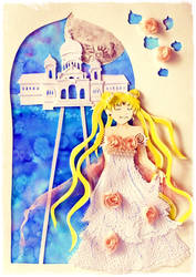 Princess Serenity Paper Cutting