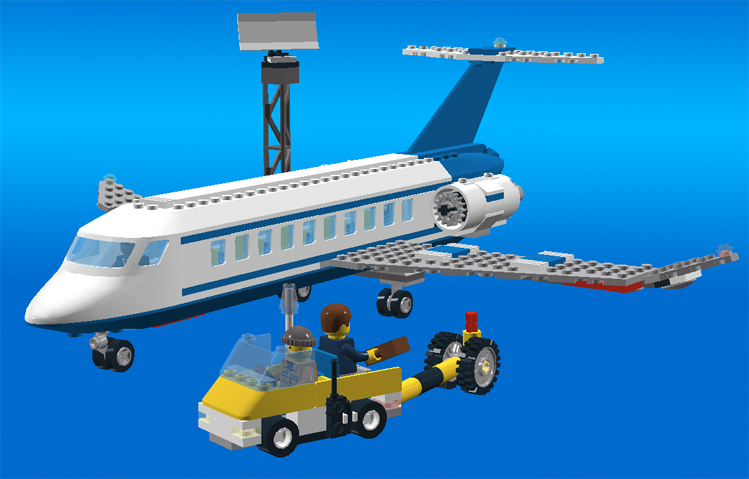 lego passenger plane 3181 instructions
