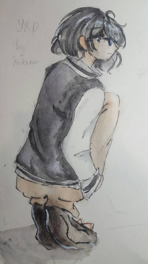 Practicing on Anatomy and Watercolor by Moetei
