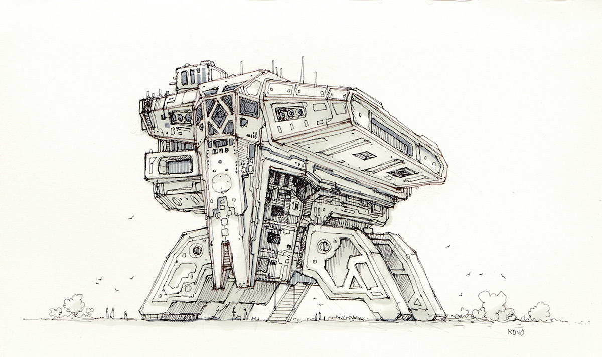 Space-freighter2-sketch