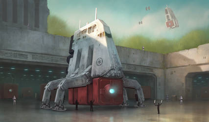 Imperial Freighter by sillikone