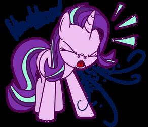 Starlight Glimmer Sneezes! by RainySunshineArt