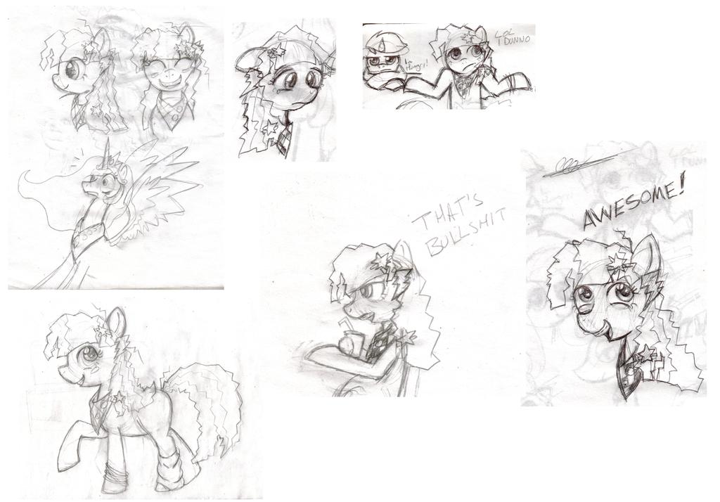 Poni Sketches by Enma-Darei
