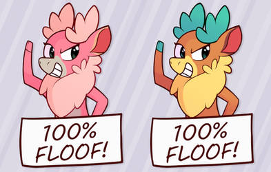 100% Floof! [Stickers Available!] by Enma-Darei
