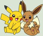 Pikachu and Eevee Happy Base