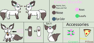 Snow Heart Ref sheet 2019 by ZwolfieLove