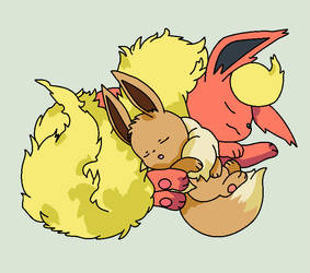Flareon and Eevee Base