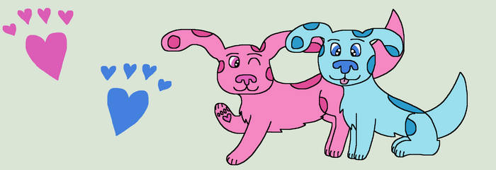 Blues Clues Blue and Magenta