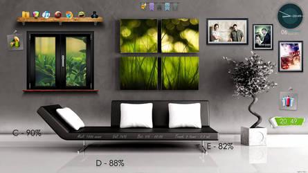 first idea for interior desktop