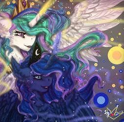 MLP: Princess Celestia and Princess Luna by MartaZap3