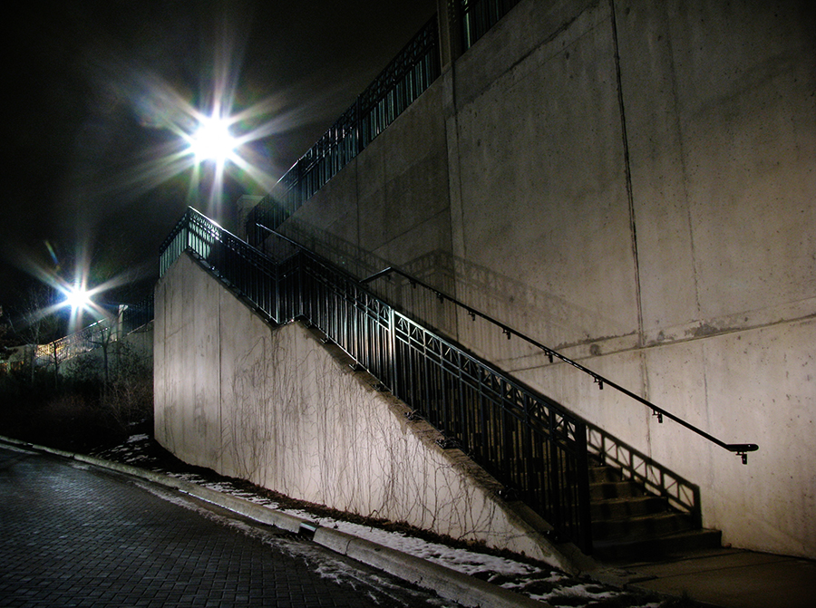 Night Stairs by electricjonny