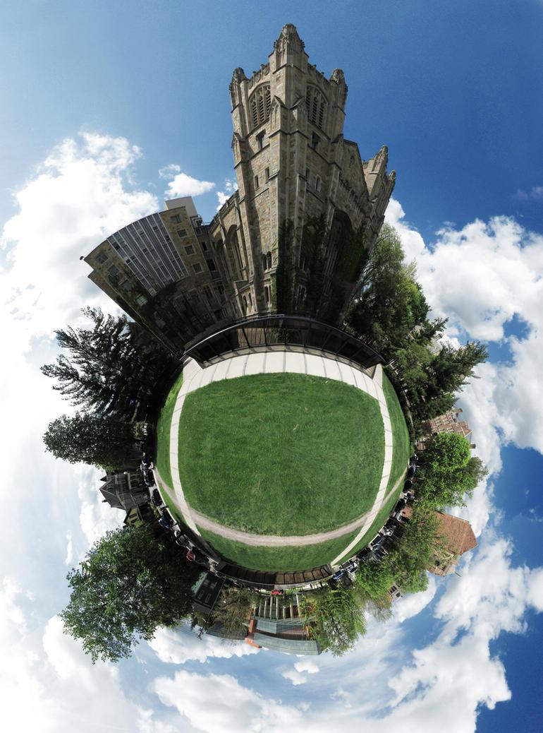 Mini Planet - U of M Law Tower by electricjonny
