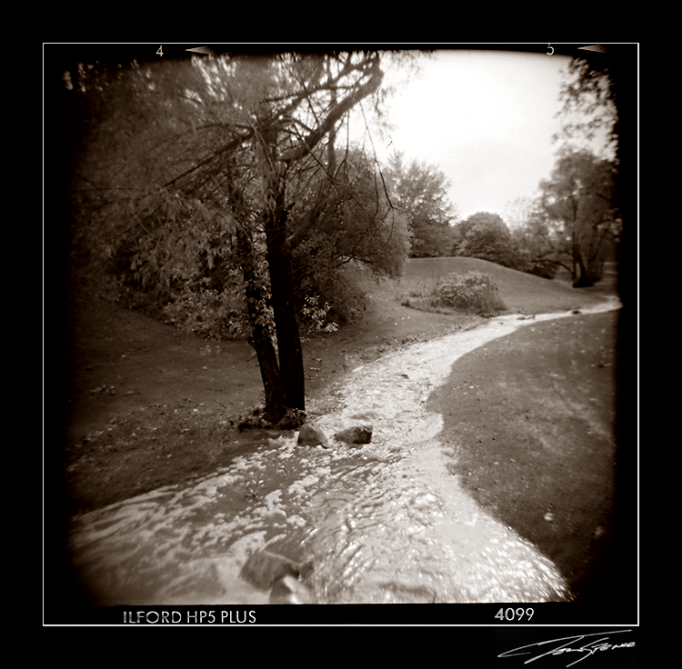 holga river after rain by electricjonny