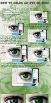 Eye Coloring Tutorial on GIMP