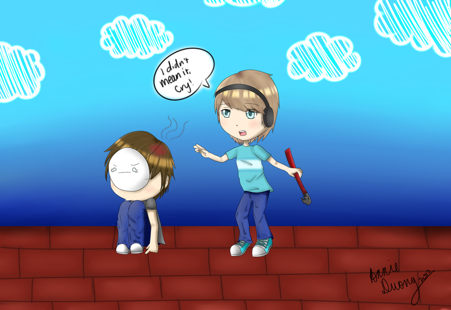 Pewdiepie and Cry Fan Art by RecurringApocalypses on ...