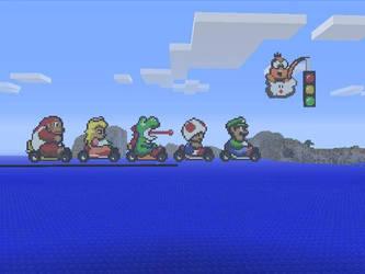 Minecraft Pixel art - Mario Kart by Rorro711