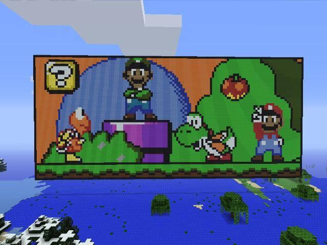 Minecraft Pixel Art Mario World By Rorro711 On Deviantart