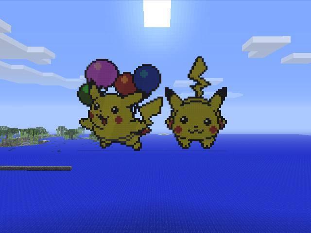 Minecraft Pixel Art Pikachu By Rorro711 On Deviantart