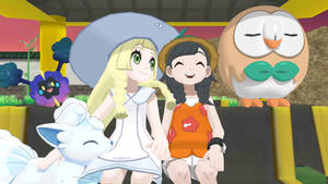 Pokemon Sun and Moon - Lillie and Mizuki Together