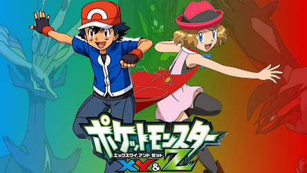 Pokemon X Y and Z - Ash and Serena Wallpaper by 64smashmaster3ds
