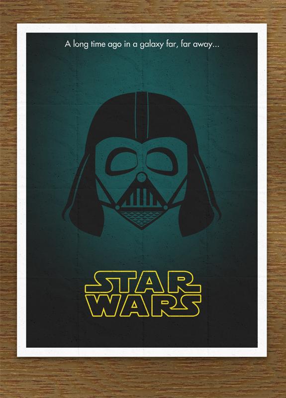 Minimal Star Wars Movie Poster by SirMaximillion