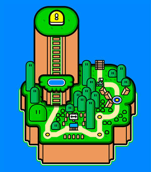 Yoshi's Island from Super Mario World