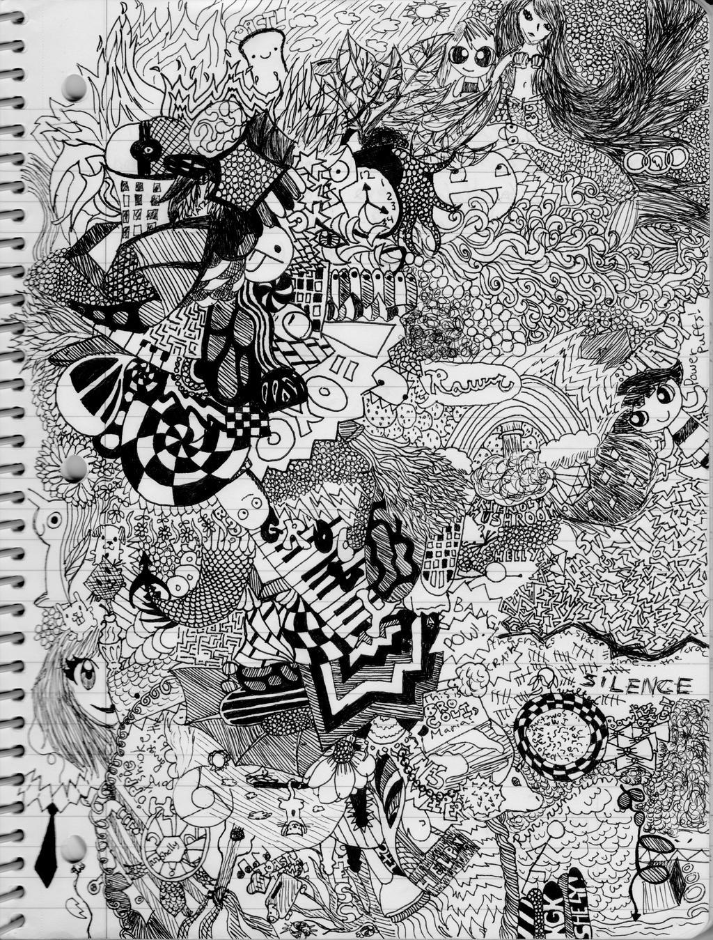 HUUUGGGEEE Doodle Page by Keke-saur