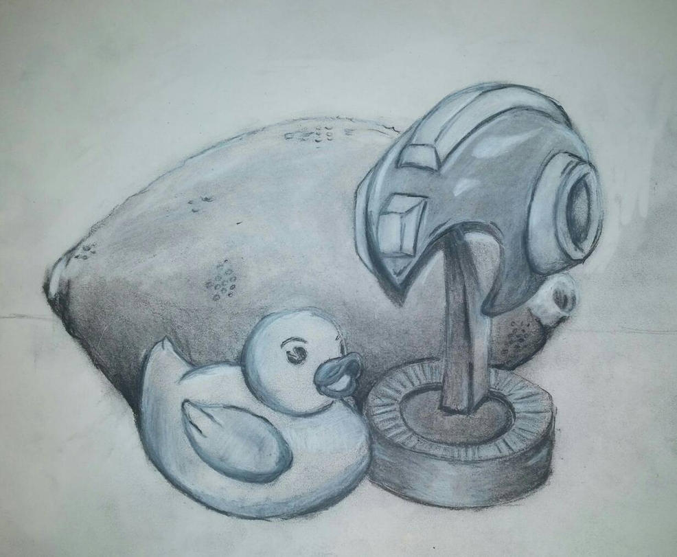 Charcoal Still-Life by Pryze
