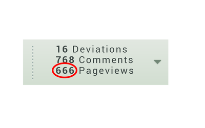 666 pageviews by dalegribble3000