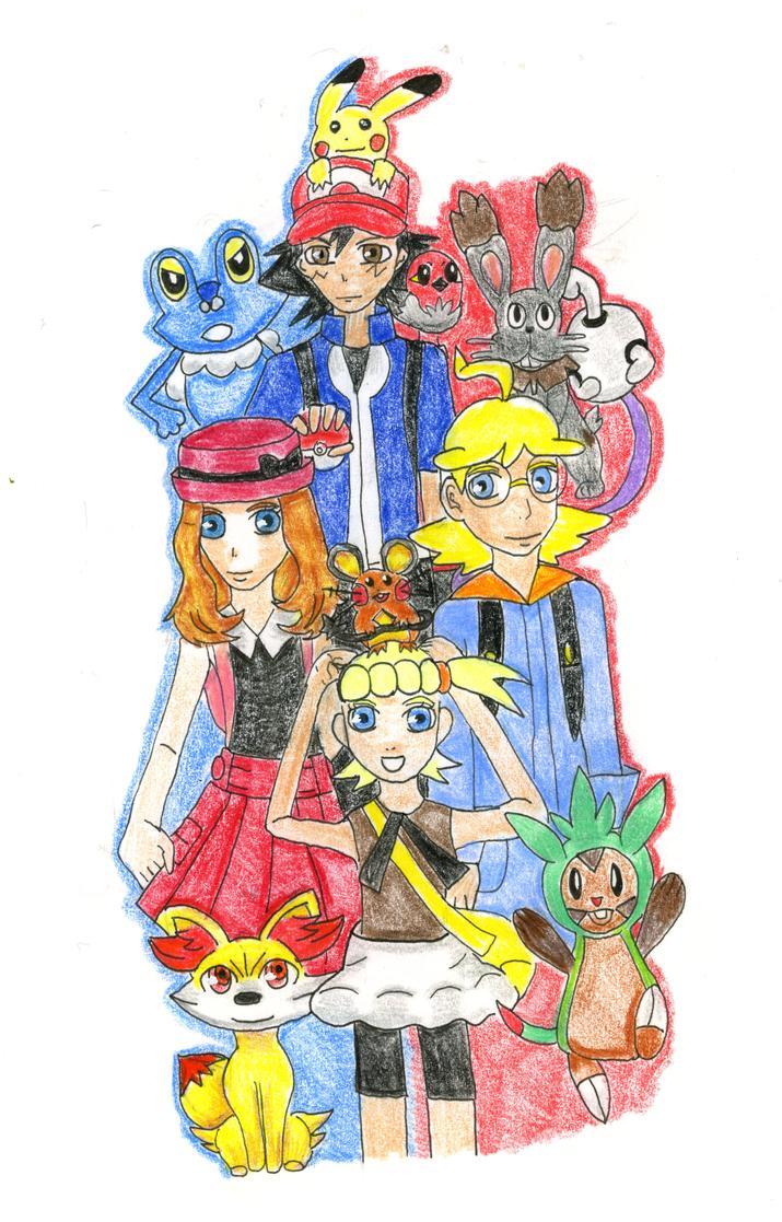 Pokemon XY Anime Cast by HikariTeiruzu