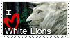 Stamp White Lion by HavickTheLion