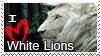 Stamp White Lion by HavickArt