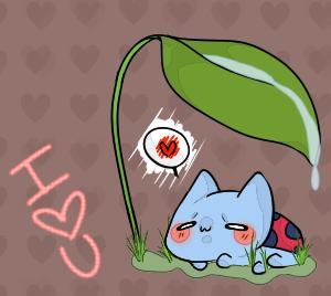 Catbug: I HEART U by M-o-c-h-a