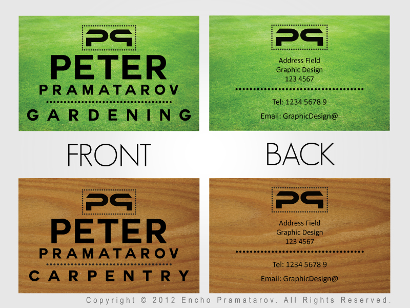 Business Card Examples Front