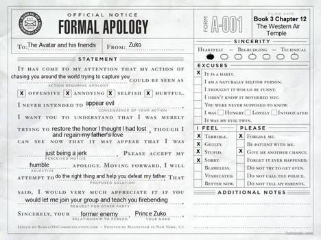 Zuko's apology