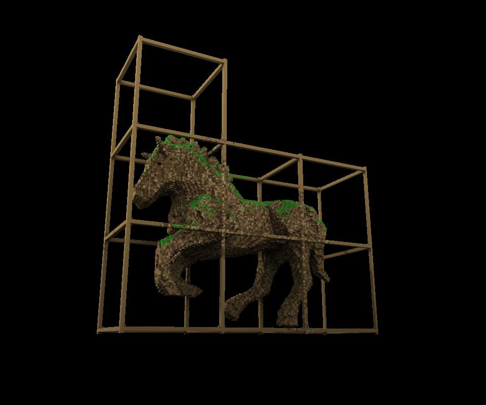 caballo de troya / trojan horse minecraft by truepardox